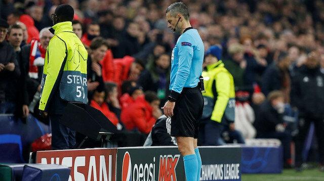 Sloven hakem Skomina gol pozisyonunu tekrar inceledi ve iptal kararı verdi.