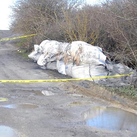 Tekirdağ'da kimyasal atık alarmı: Jandarma çuvalları bırakanları aranıyor