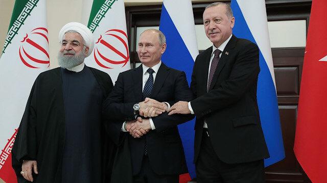 Cumhurbaşkanı Recep Tayyip Erdoğan, Rusya Devlet Başkanı Vladimir Putin, ve İran Cumhurbaşkanı Hasan Ruhani Soçi'de bir araya geldi.