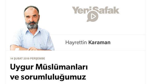 Uygur Müslümanları ve sorumluluğumuz
