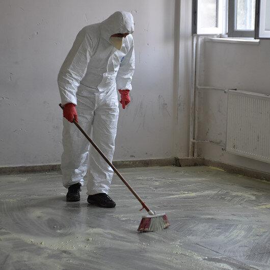 Okulda cıva kabusu: Ekipler temizlik yaptı