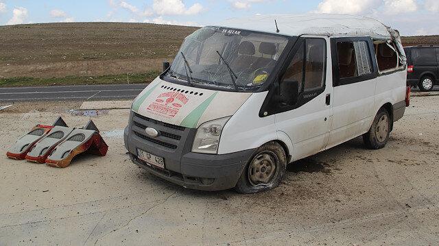 Mardin'deki kazada 3 kişiye mezar olan minibüs.