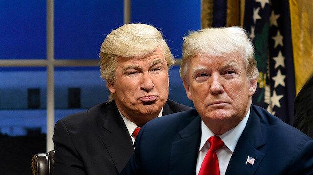 SNL programında Alec Baldwin, Trump'ın 'Ulusal acil durum' ilan ettiği konuşmayı tiye alan bir skeçte oynamıştı.