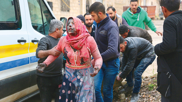 İdlib'de çocuklara bomba