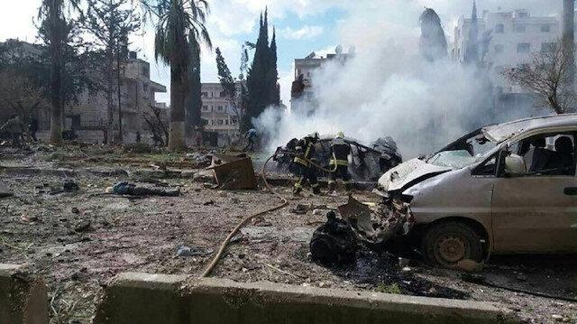 İdlib'te patlama.