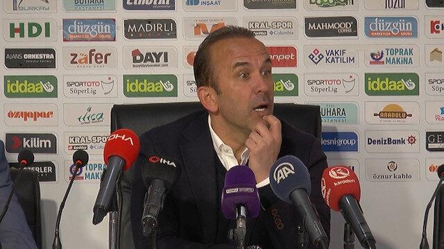 Teknik direktör Mehmet Özdilek'ten büyük gaf