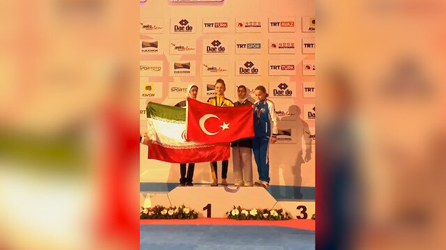 Milli sporcunun Türk bayrağı hassasiyeti gururlandırdı