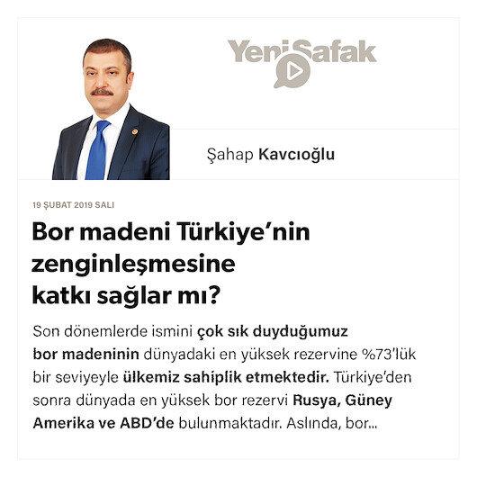 Bor madeni Türkiye'nin zenginleşmesine katkı sağlar mı?