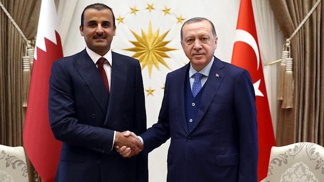 Emir of Qatar Sheikh Tamim bin Hamad Al Thani and President Erdoğan