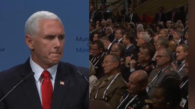 Trump'a alkış bekleyen Pence rezil oldu