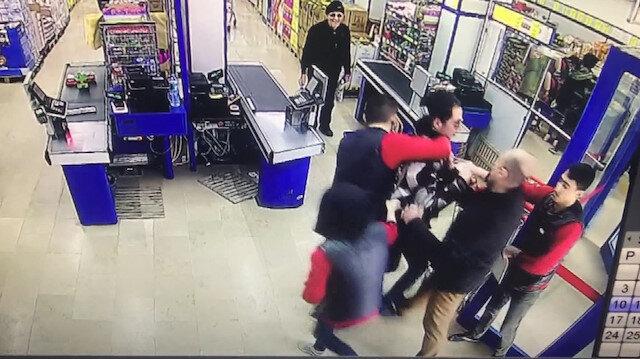 Marketten çaldığı ürünlerle kaçarken yakalandı
