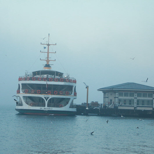 Yoğun sis deniz ulaşımını etkiledi