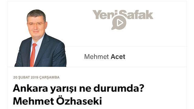 Ankara yarışı ne durumda? Mehmet Özhaseki Başkent'e ne vadediyor?