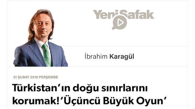 """* Türkistan'ın doğu sınırlarını korumak! * 'Üçüncü Büyük Oyun' burada sahnelenecek.. * Bize """"Batı'nın veya Doğu'nun himâyesine girin"""" diyorlar. Buna boyun eğmeyeceğiz!"""
