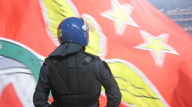 Galatasaraylı taraftara Lizbon'da gözaltı