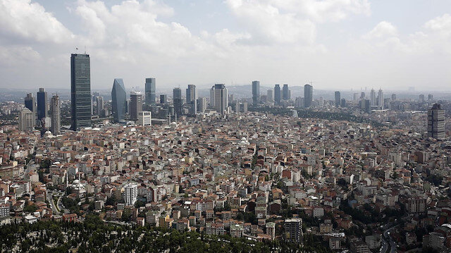 İstanbul havadan görüntü.