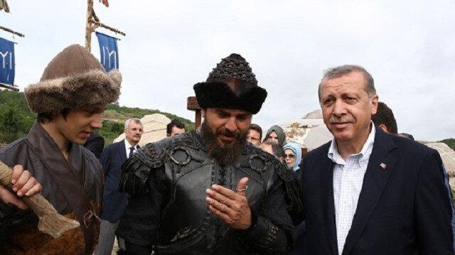 Cumhurbaşkanı Erdoğan'a Diriliş sürprizi