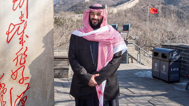 Saudi Arabia's Crown Prince Mohammed bin Salman poses for camera