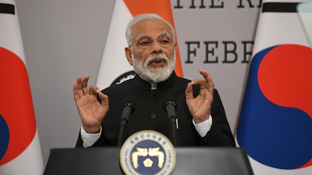 Indian PM receives peace prize in South Korea