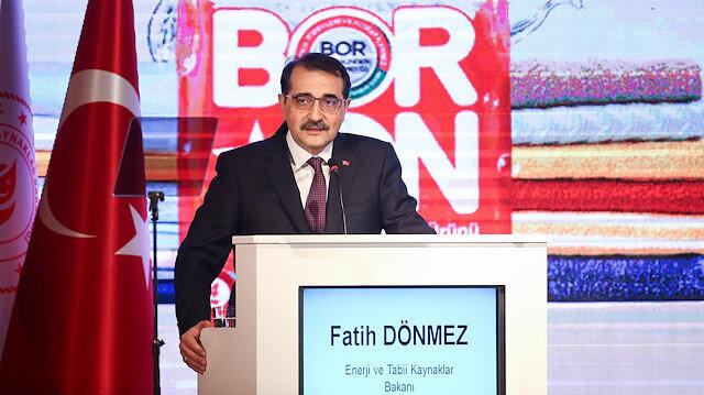 Enerji Bakanı Dönmez: BORON satışlarına yetişemiyoruz