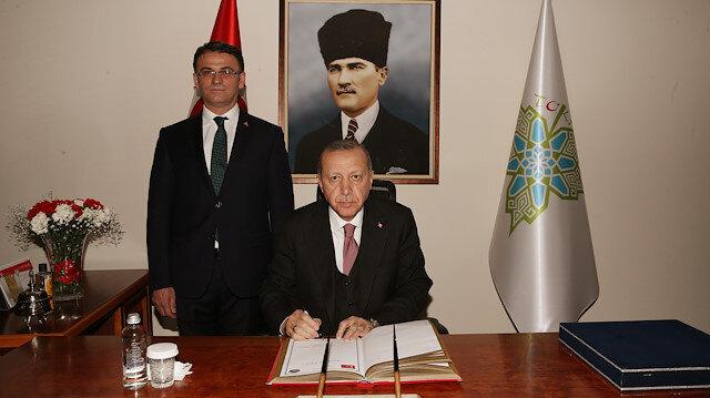 Cumhurbaşkanı Erdoğan, Tokat Valisi Ozan Balcı'yı ziyaret etti.