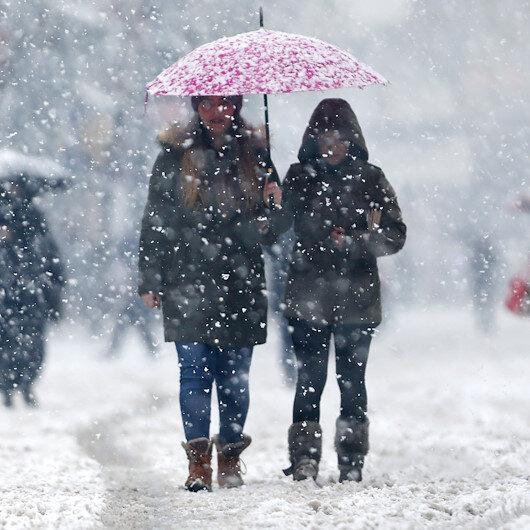 3 ile kar yağışı uyarısı: Cumaya kadar sürecek
