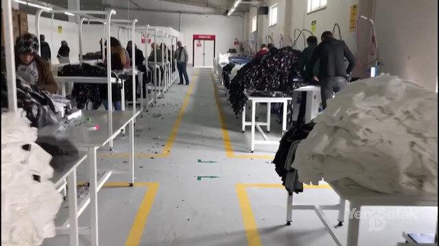 Ağrıda ilk kez açılan fabrikada kadınlar istihdam edildi