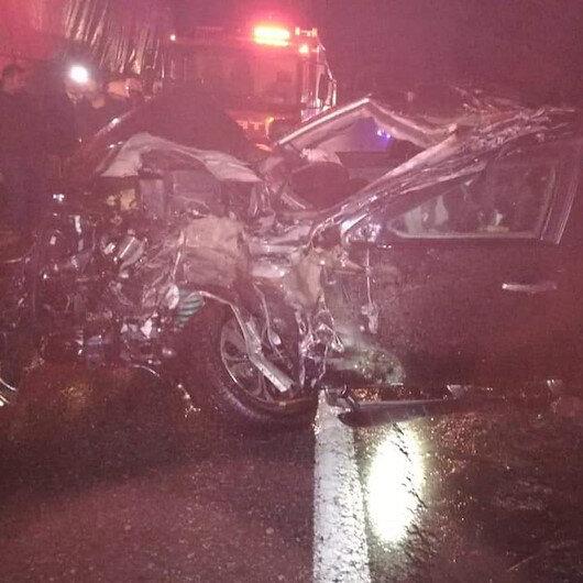 Artvin'de polis minibüsü kaza yaptı: 5 yaralı