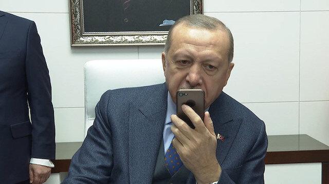 Cumhurbaşkanı Erdoğan Mavi Vatan-2019 tatbikatındaki personelle konuştu