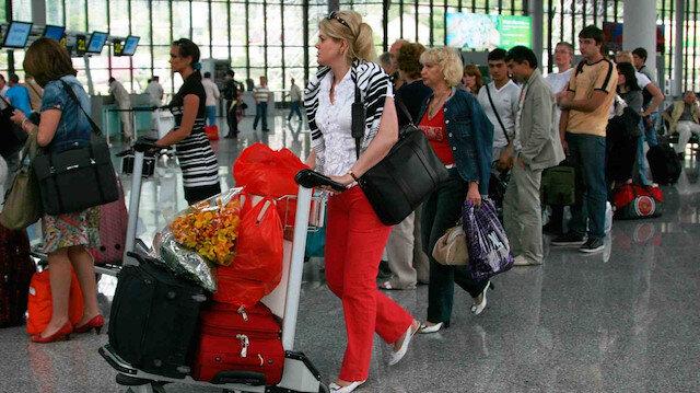Rus turist havalimanı.
