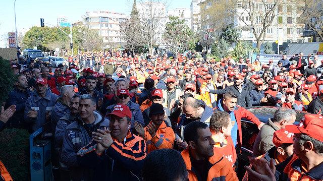 İşçiler CHPli Maltepe Belediyesini protesto etti