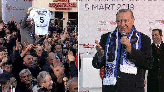 Cumhurbaşkanı Erdoğan: Ben libero oynamadım, forvet oynadım