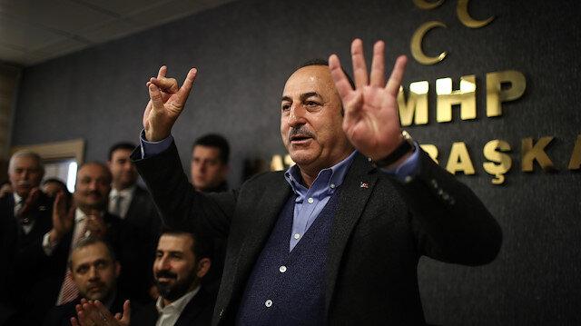 Bakan Çavuşoğlundan bozkurt işareti açıklaması