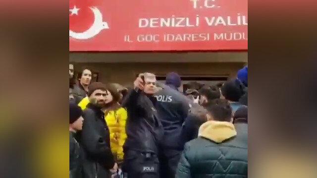 Polisten mültecilere tepki çeken müdahale