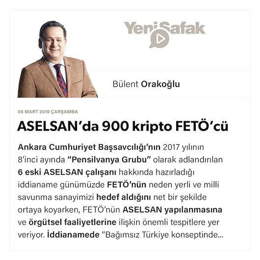 ASELSAN'da 900 kripto FETÖ'cü