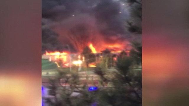 Ankarada aqua park alev alev yandı