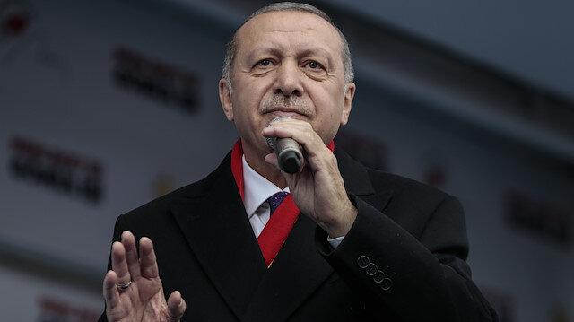 Turkish President Recep Tayyip Erdoğan in Turkey's Malatya