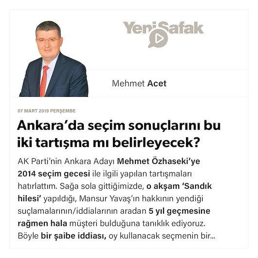 Ankara'da seçim sonuçlarını bu iki tartışma mı belirleyecek?