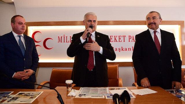 Binali Yıldırım MHP Teşkilatı'nı ziyaret etti