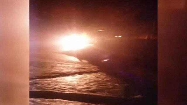 Nusaybinde elektrik panosunda korkutan yangın
