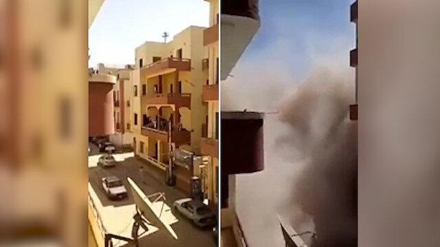 Balkon kolonunu kırarken bina başına yıkıldı