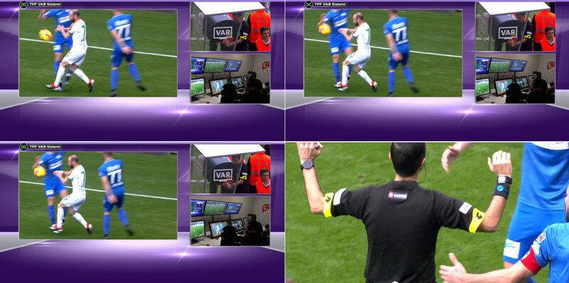 Mete Kalkavan'ın penaltı kararı verdiği pozisyon.(Görüntüler Bein Sports'tan alınmıştır.)