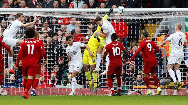 Burnley'in Liverpool karşısında 1-0 öne geçtiği gol.