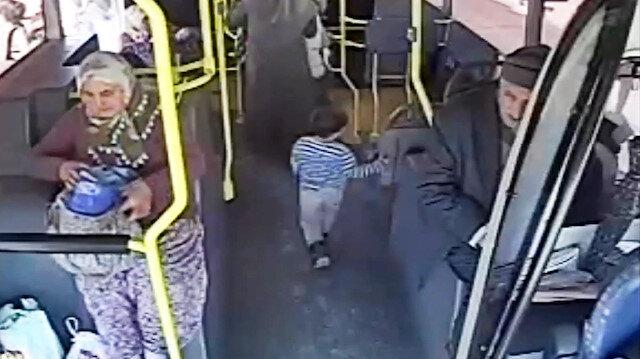 Yanlış otobüse binen minik yaramaz polisi alarma geçirdi