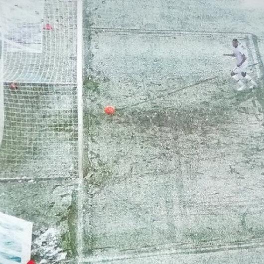 Hannover-Leverkusen maçında gole kar engeli