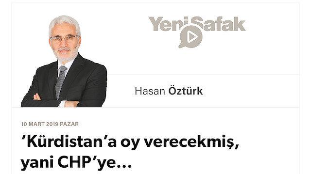 'Kürdistan'a oy verecekmiş, yani CHP'ye…