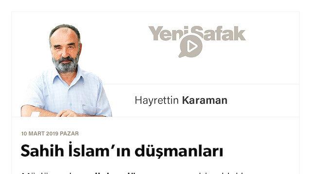 Sahih İslam'ın düşmanları