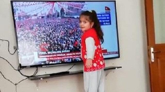 Erdoğan minik hayranına kayıtsız kalamadı