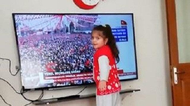 Erdoğan hayranı minik kız