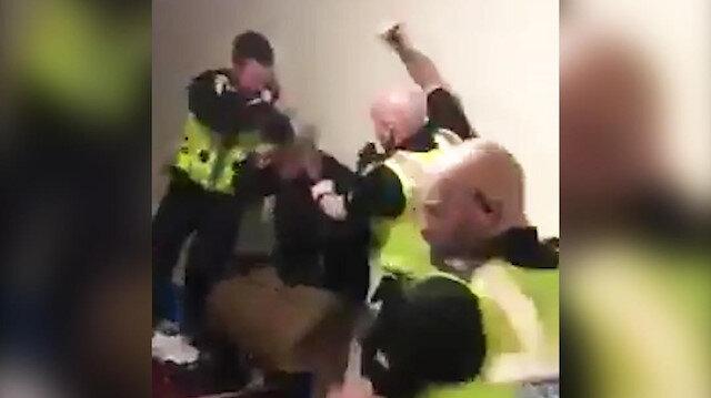 İngiltere polisi yaşlı Müslüman adamı acımasızca dövdü
